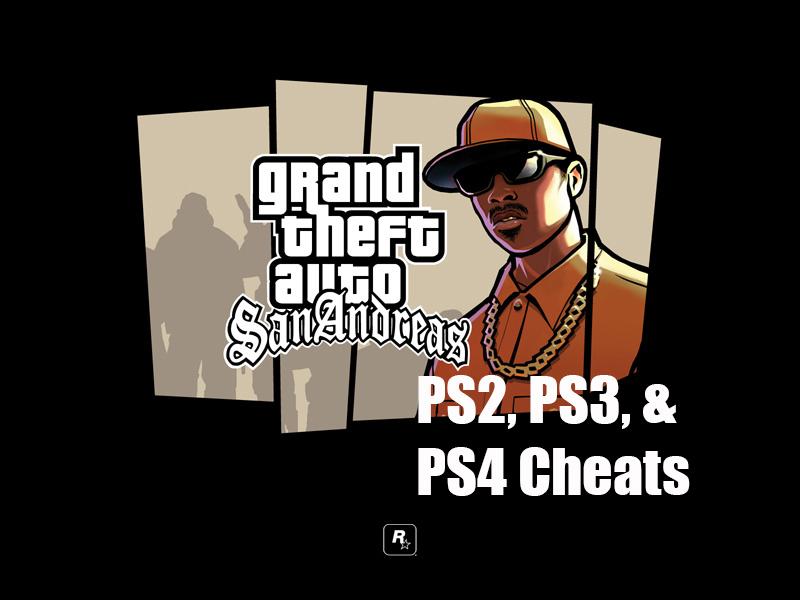 GTA San Andreas cheats PS4